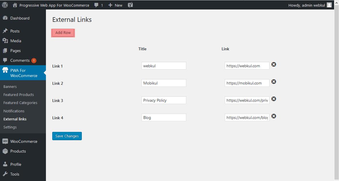 progressive web app for woocommerce webkul_pwa_external_links_woocommerce