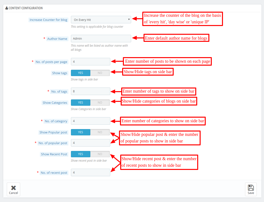 Configure Prestashop Advanced Blog module
