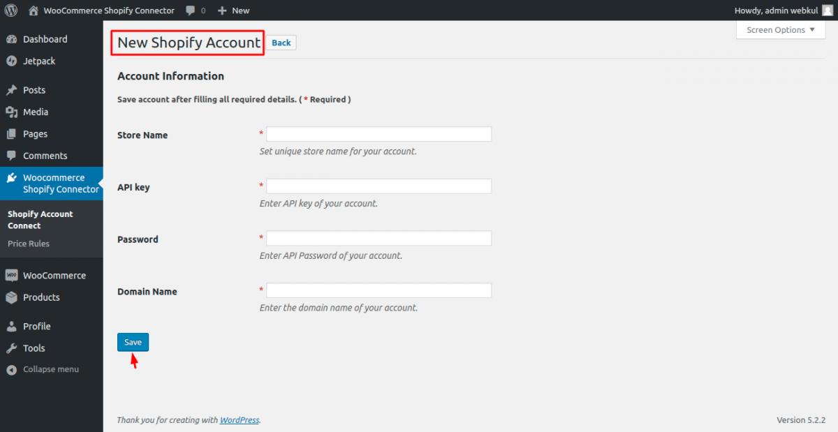 Add-New-Shopify-Account