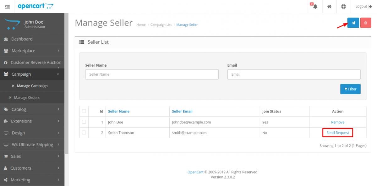 webkul-opencart-marketplace-campaign-manage-seller-list