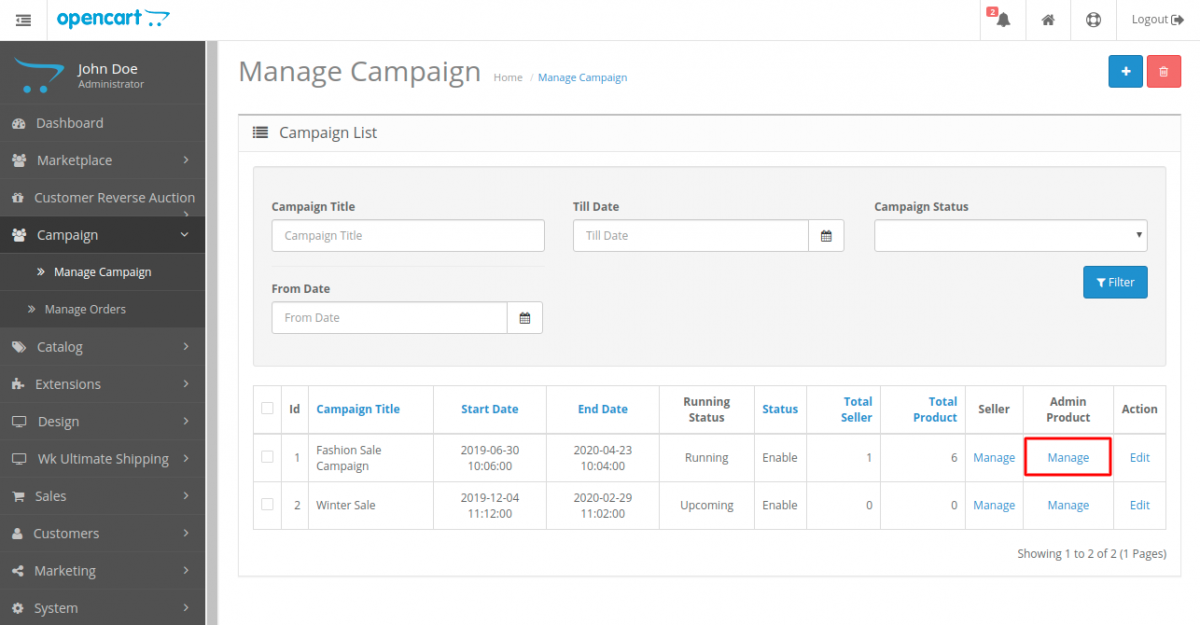 webkul-opencart-marketplace-campaign-manage-admin-products