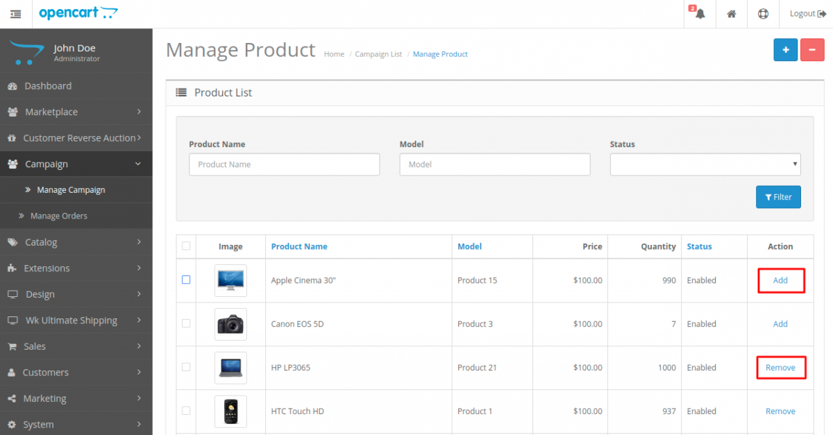 webkul-opencart-marketplace-campaign-manage-campaign-products