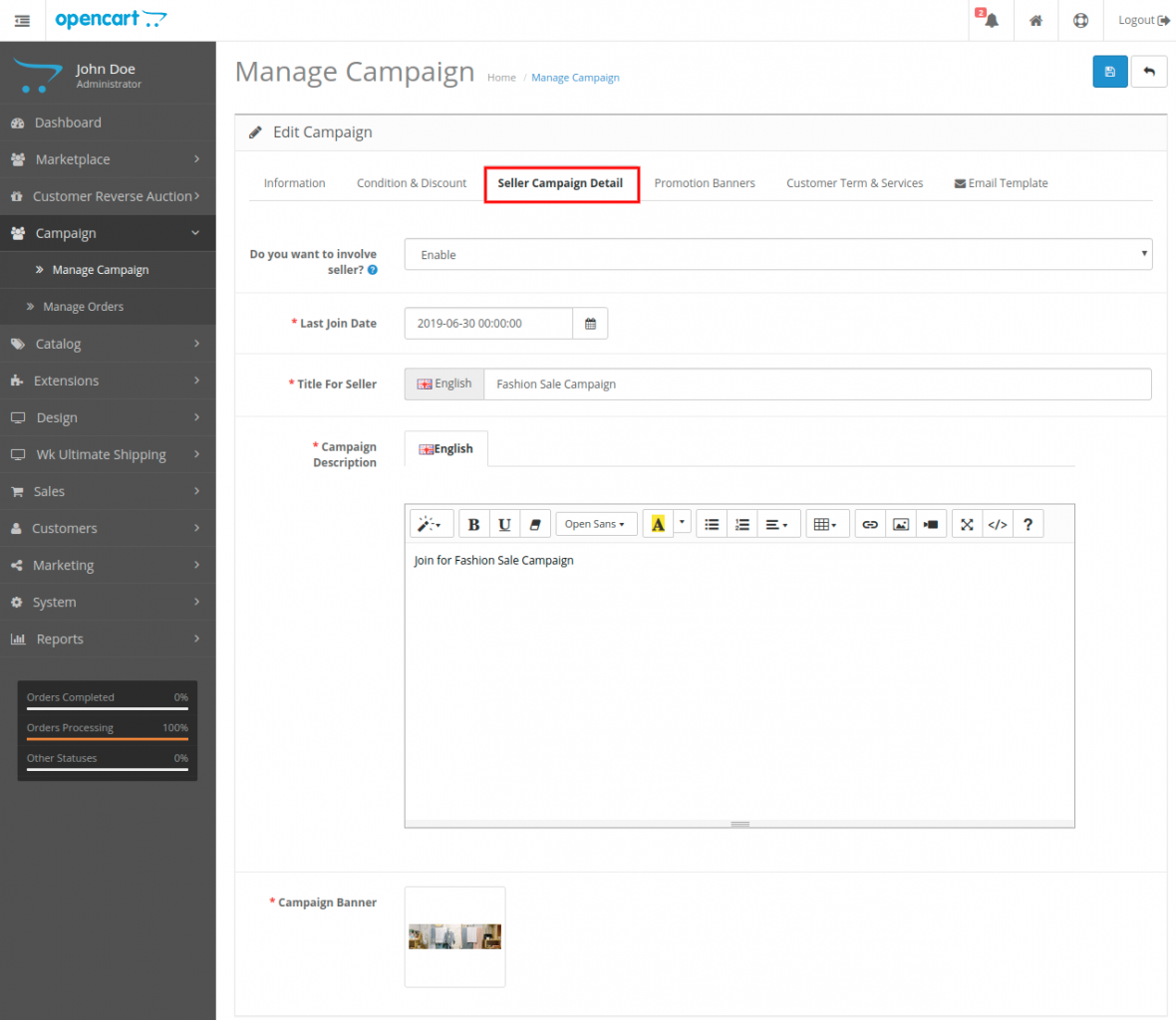 webkul-opencart-marketplace-campaign-manage-seller-campaign-details
