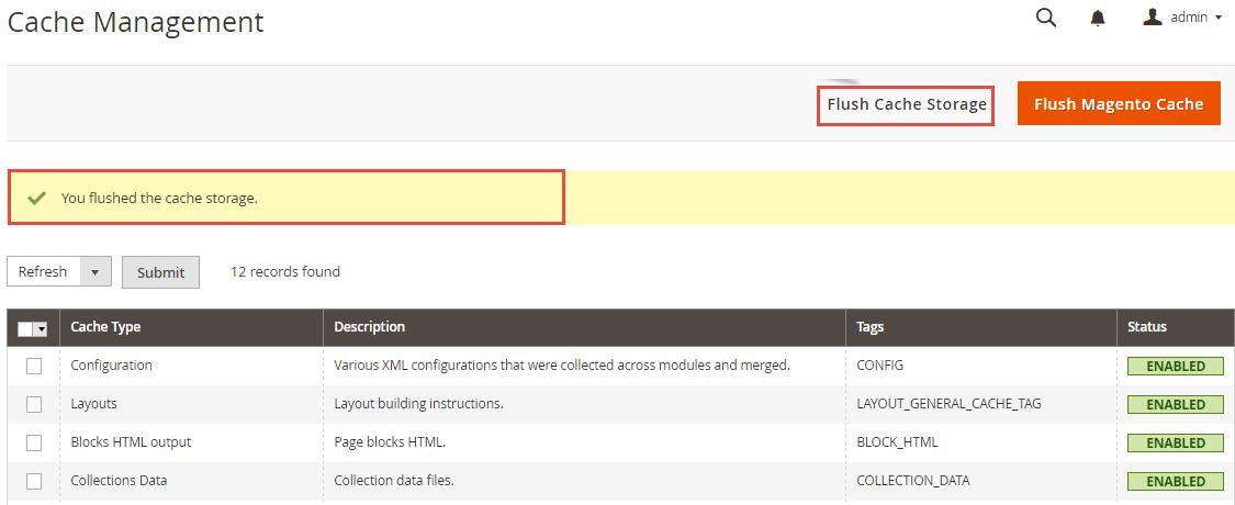 Webkul Coupon Listing for Magento 2 - Flush Cache