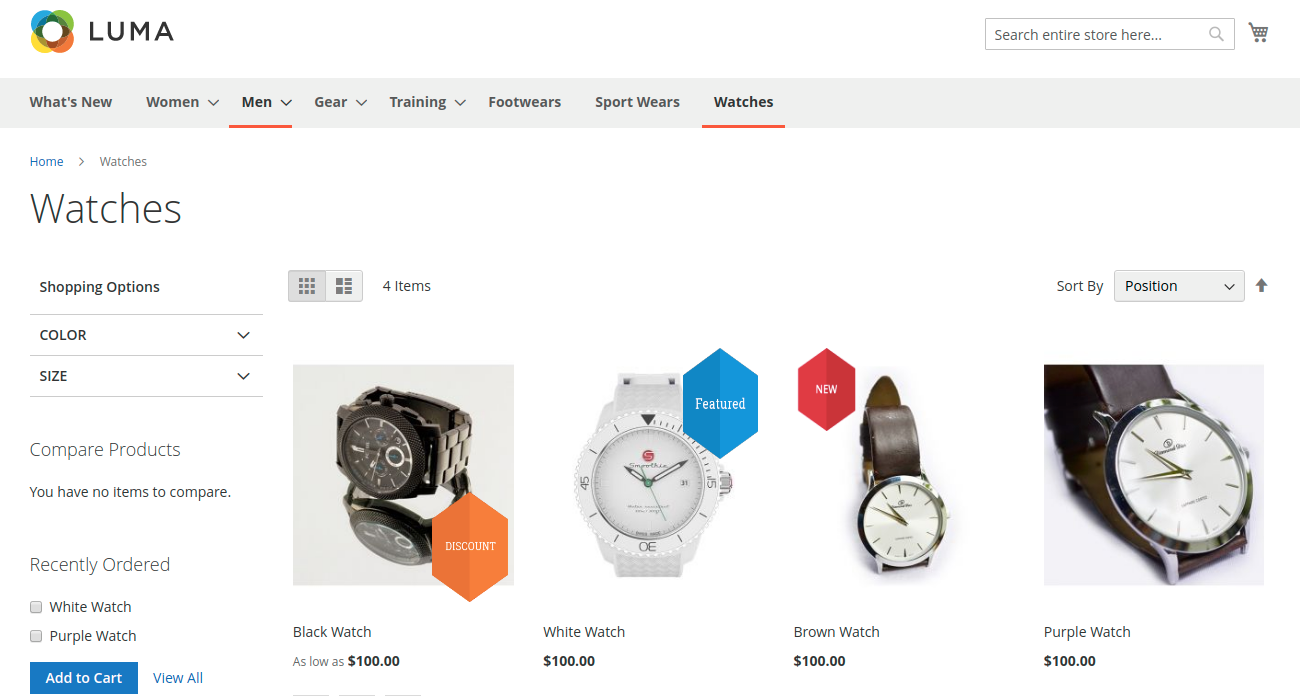 webkul-magento2-product-label-front-view