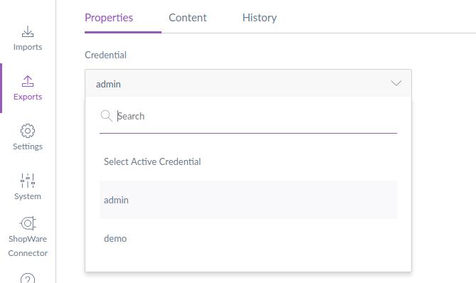shopware-akeneo-connector-selecting-credentials