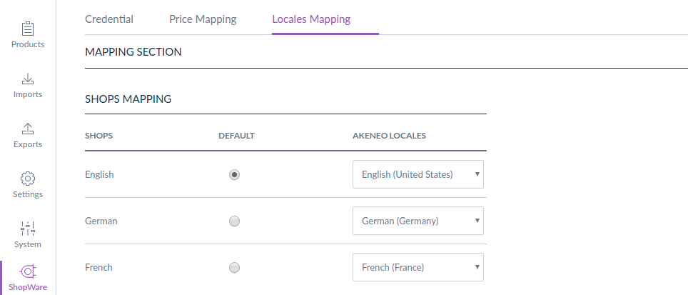 shopware-akeneo-connector-locale-mapping