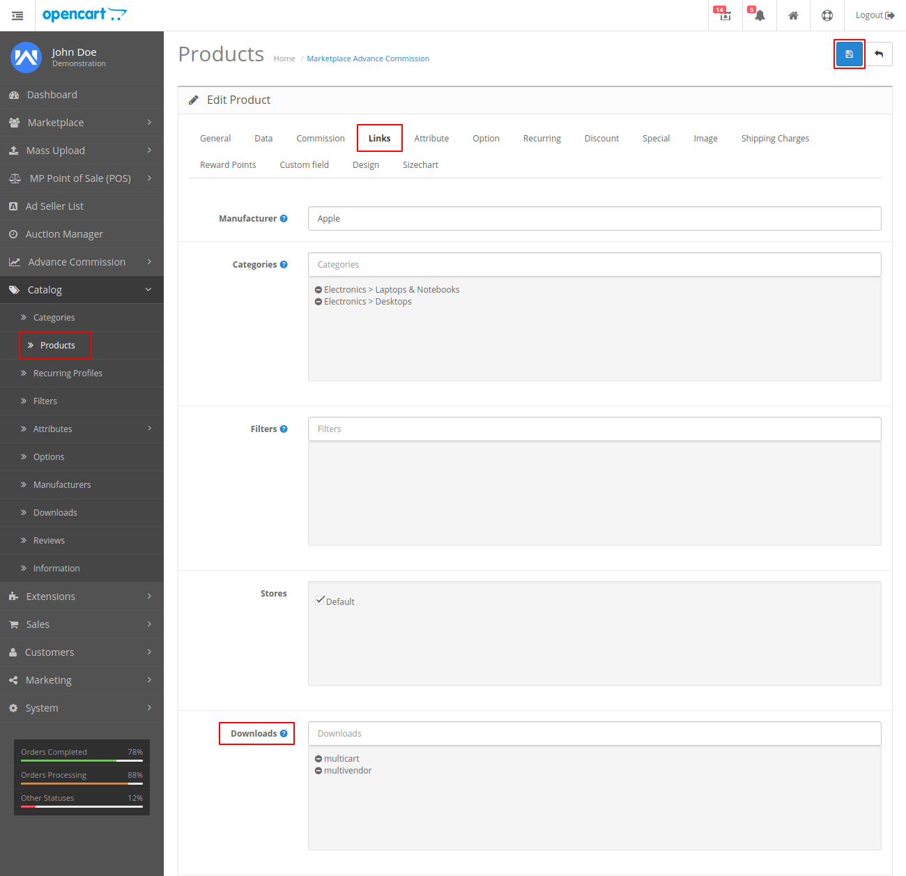webkul-opencart-multi-vendor-amazon-s3-module-creating-downloadable-product-link-admin-end