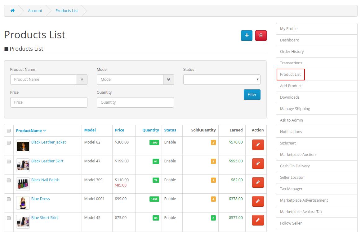 webkul-opencart-multi-vendor-amazon-s3-module-product-list-seller-end