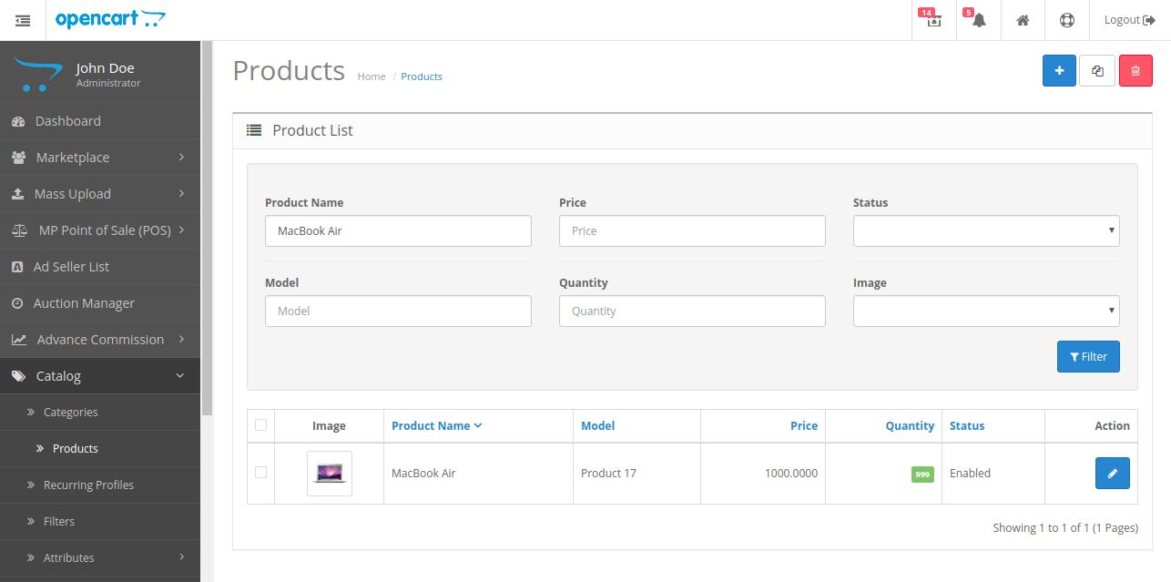 webkul-opencart-multi-vendor-amazon-s3-module-admin-products