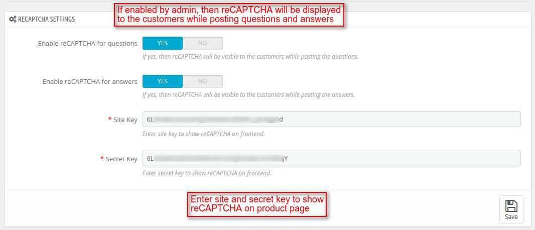 Display reCAPTCHA