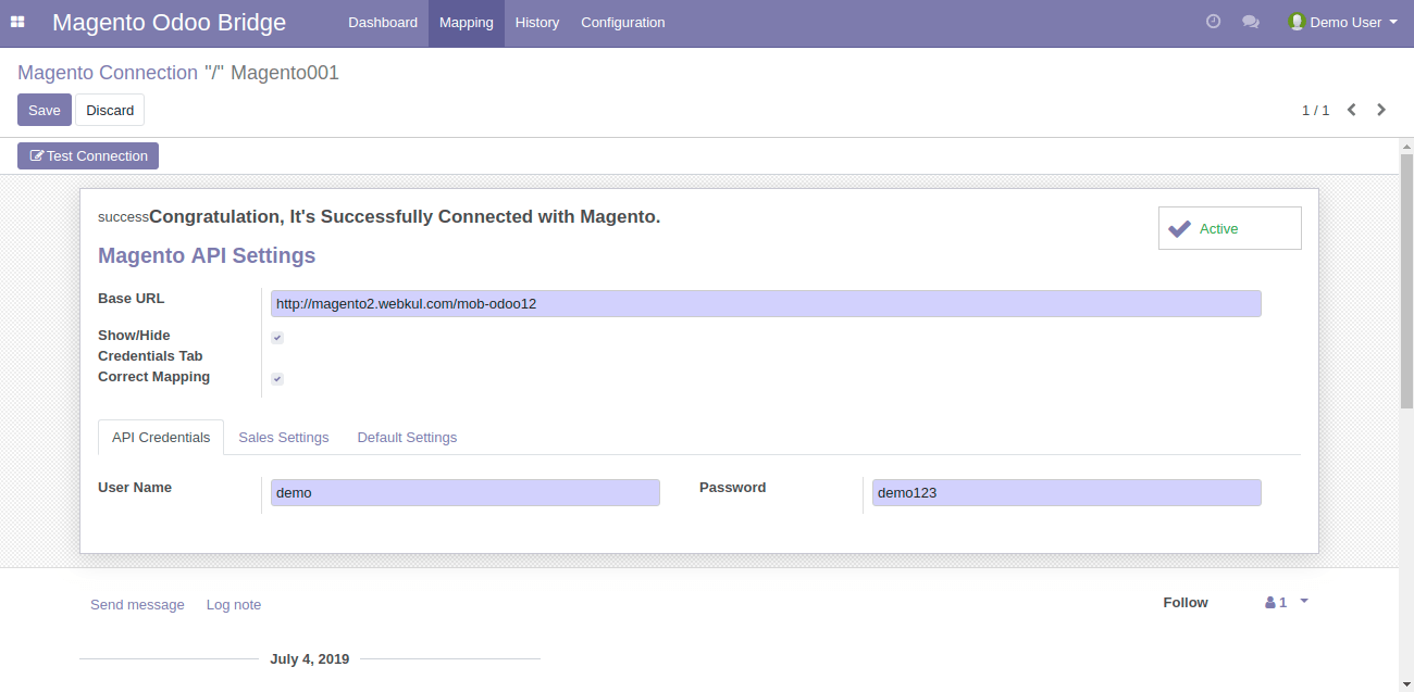 Configure Odoo Bridge for Magento | Enable Setting For Auto Sync