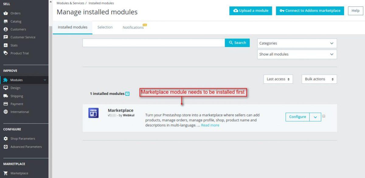 marketplace module installation