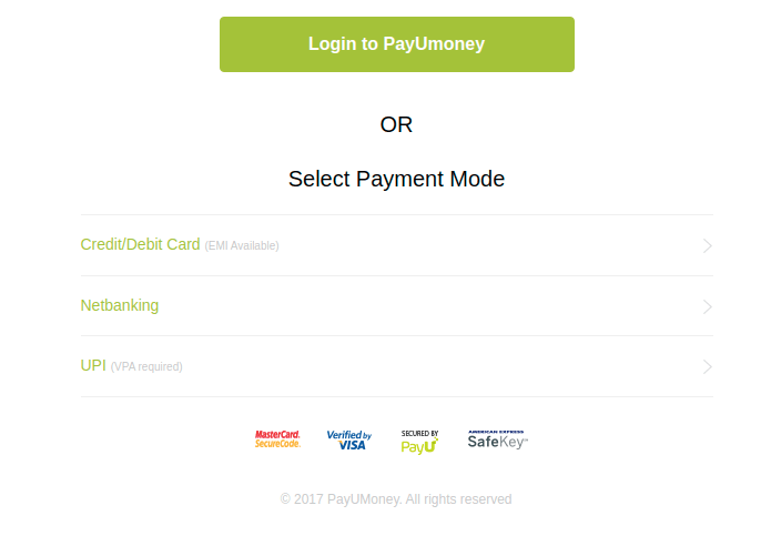 PayUmoney-payment-page