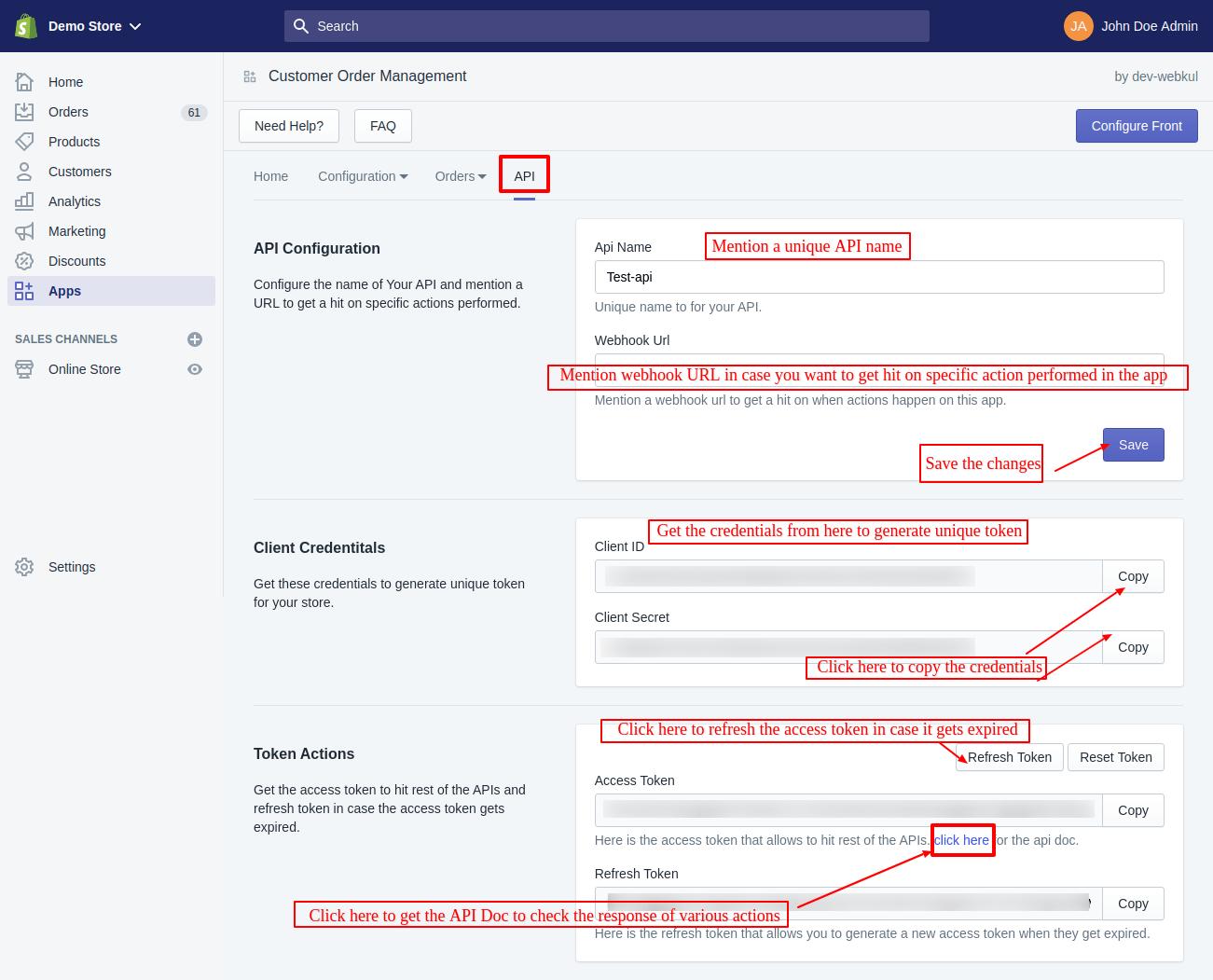 Shopify Customer Order Management