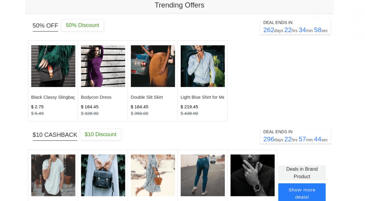 trending offers