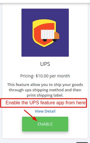 UPS feature app