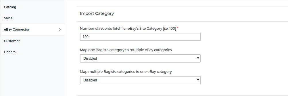laravel-eCommerce-ebay-connector-import-category-settings