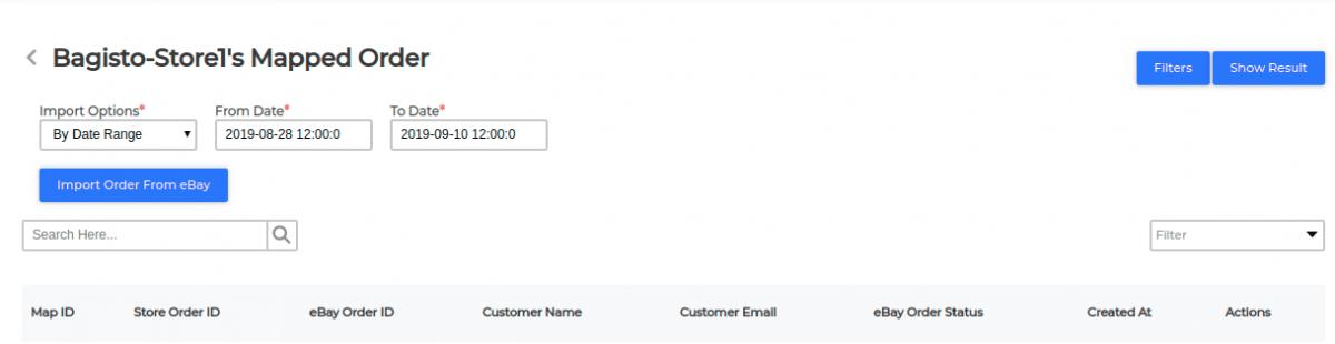 laravel-eCommerce-ebay-connector-map-order-by-date-range