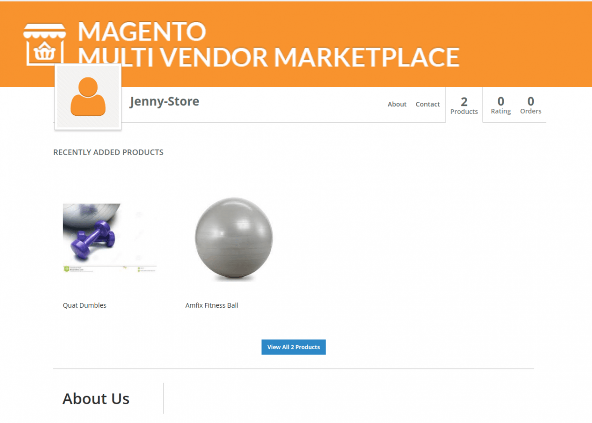 Magento 2 B2B Wholesale Catalogue for Vendors seller page