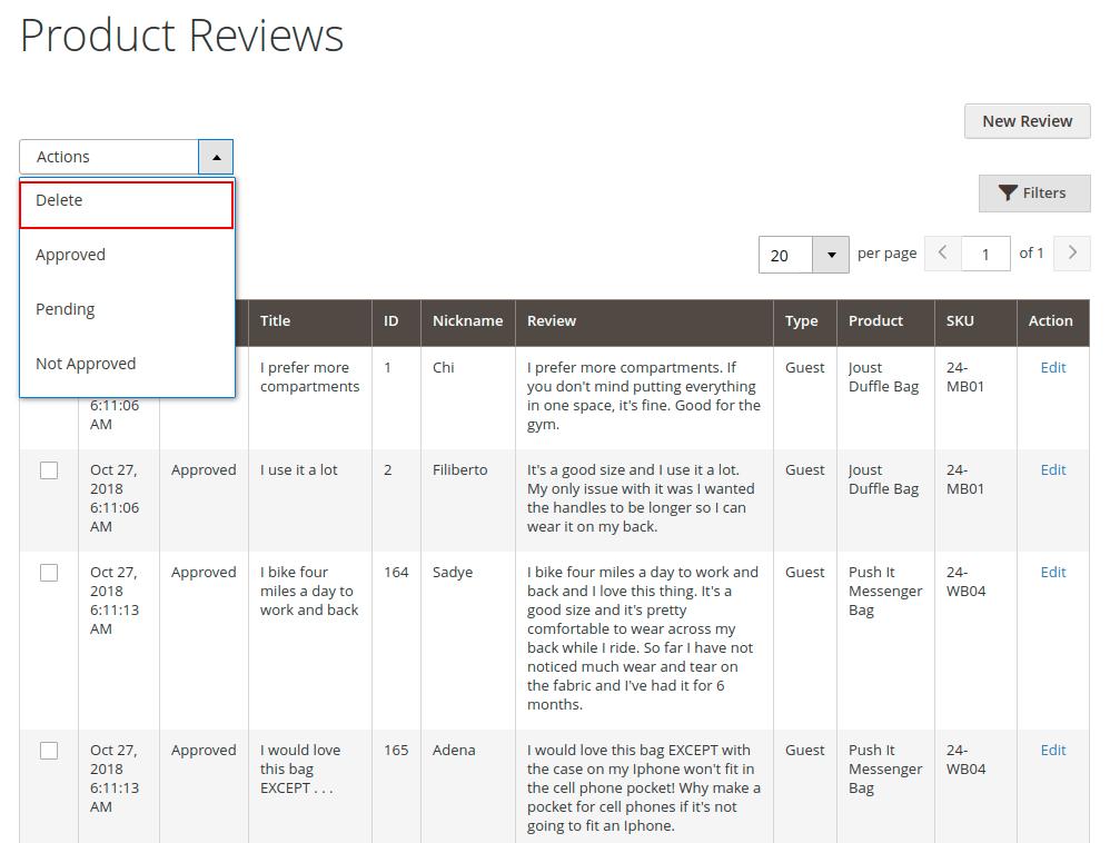Magento 2 Vendor Product Review
