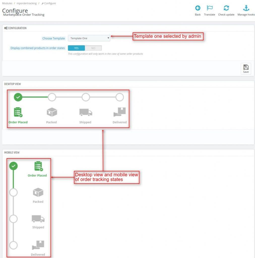 Configure marketplace order tracking