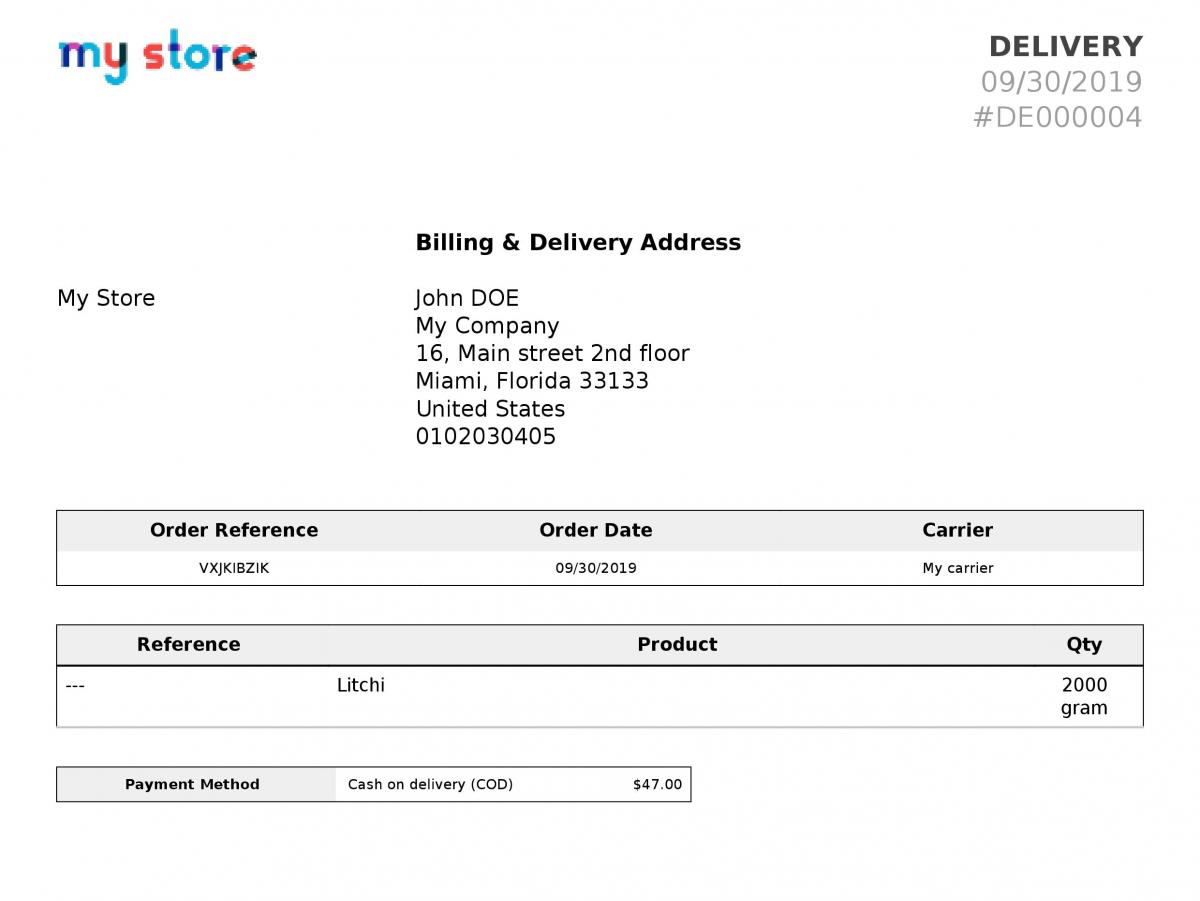 Prestashop multi UOM module adds measuring quantity on delivery receipt