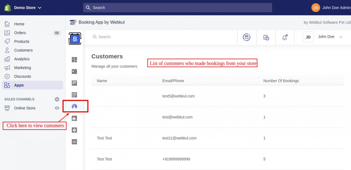 Customer Listing