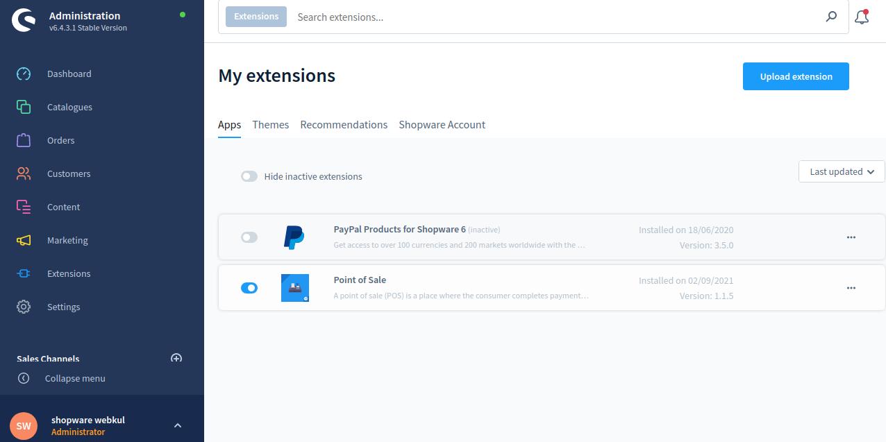 Shopware-POS-Extensions