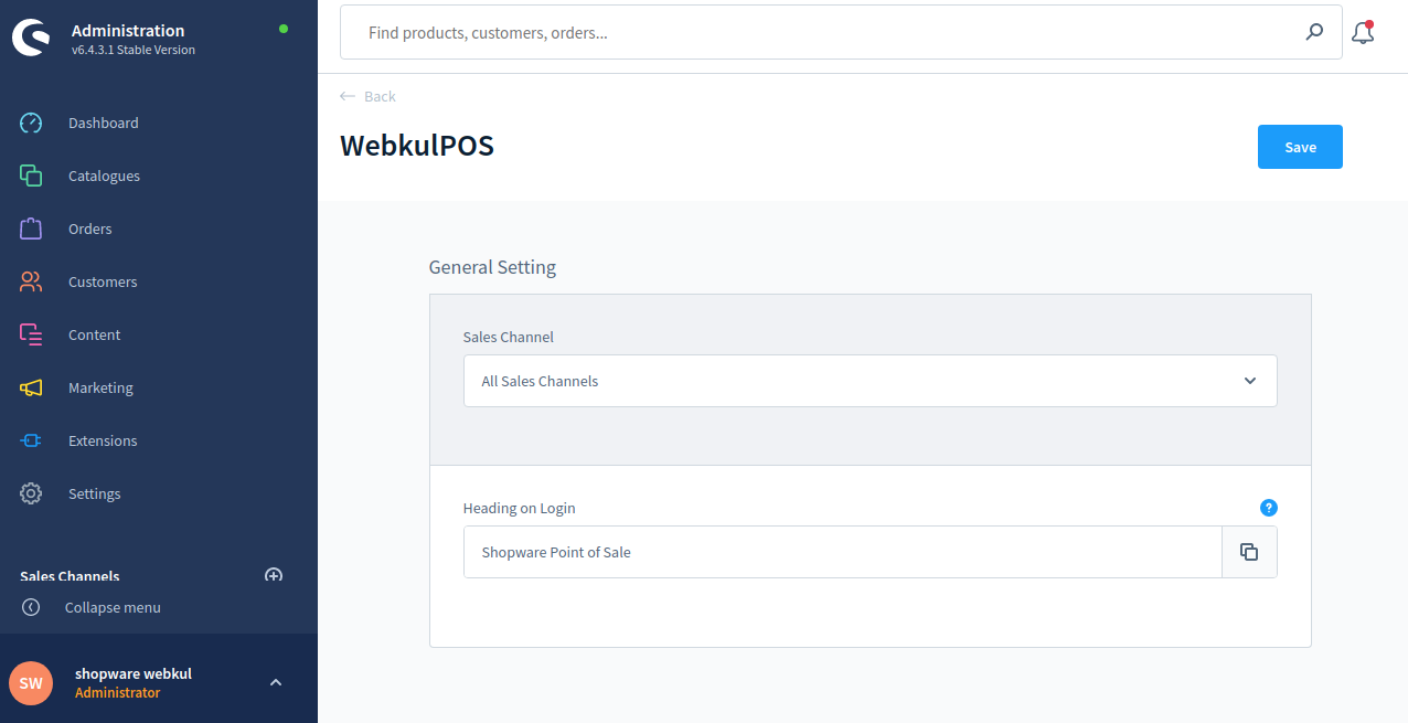Shopware-POS-configuration