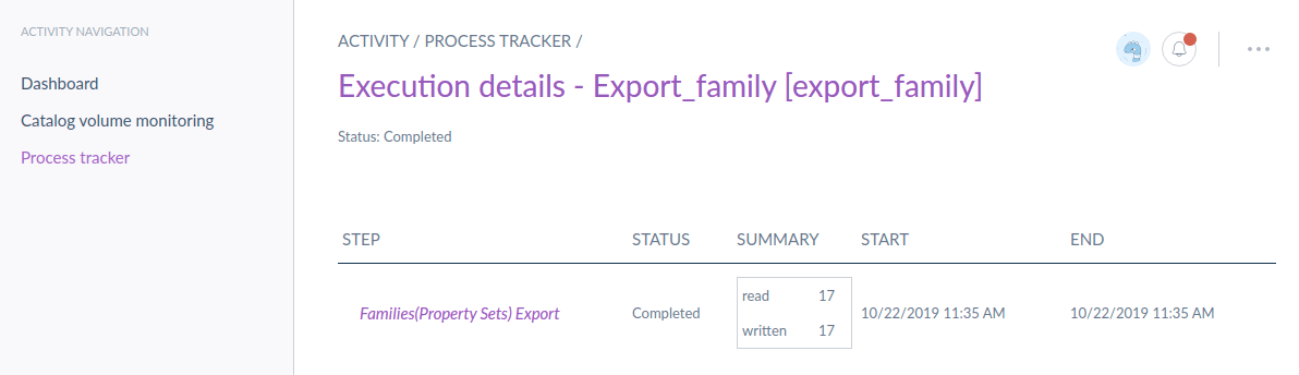 export family details