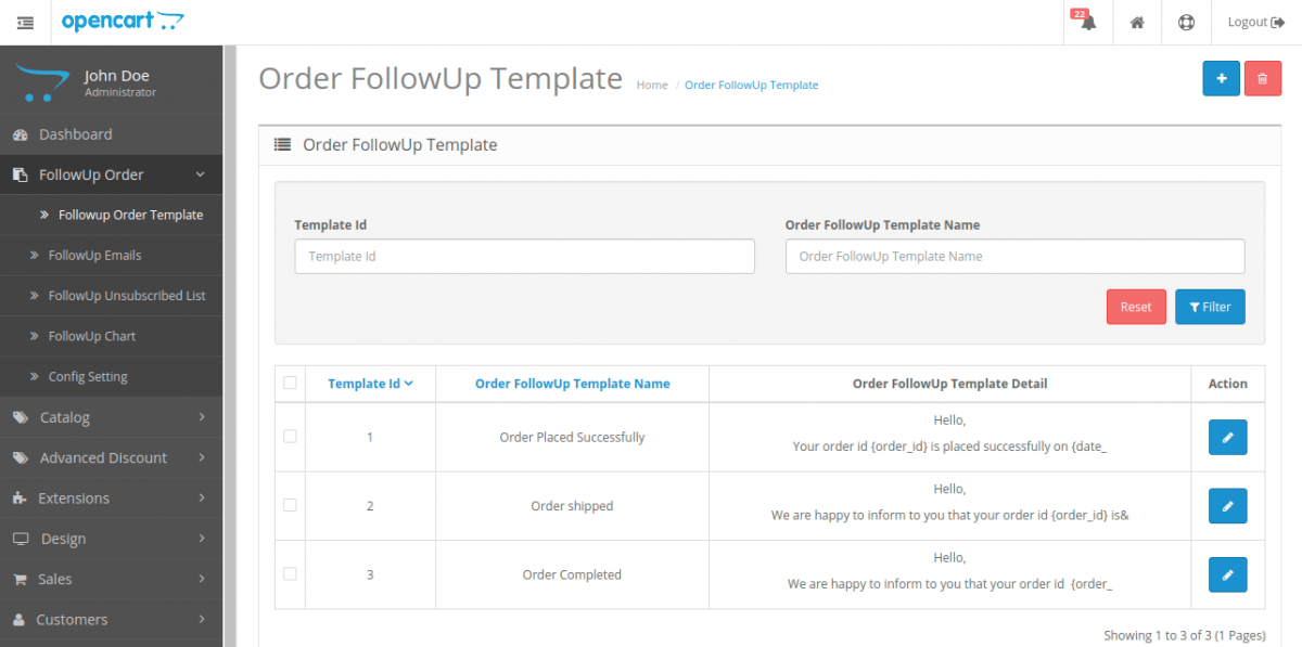 opencart order follow up template