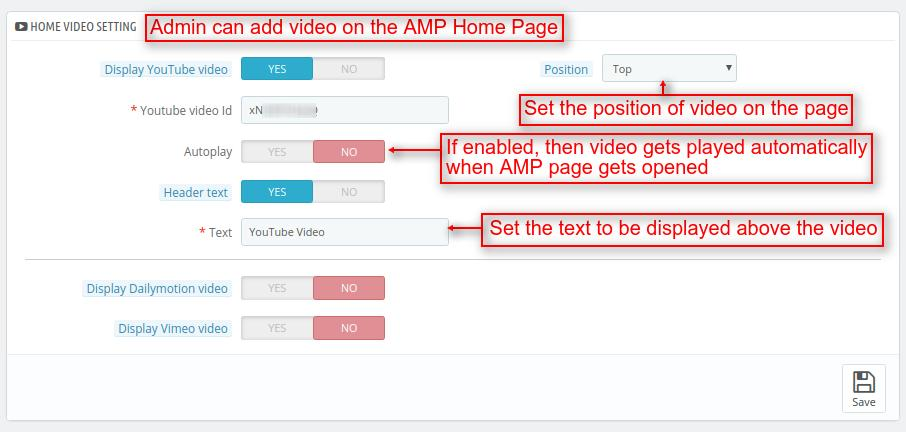 Add video on home page