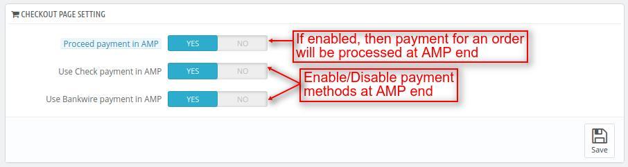 Configure checkout page settings