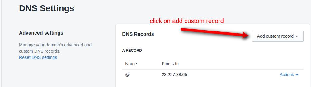 add custom record