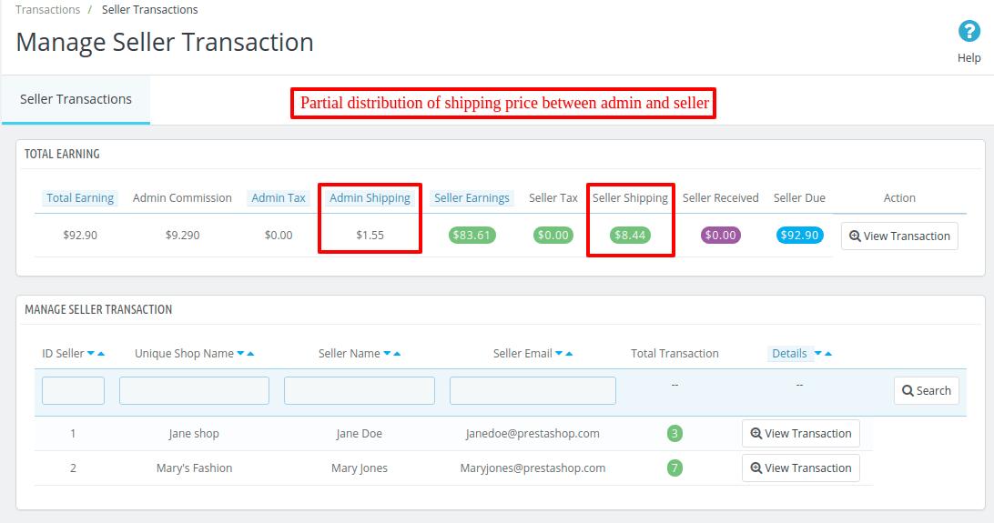 shipping price distribution
