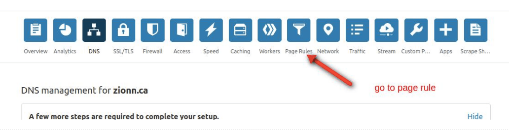 select page rule