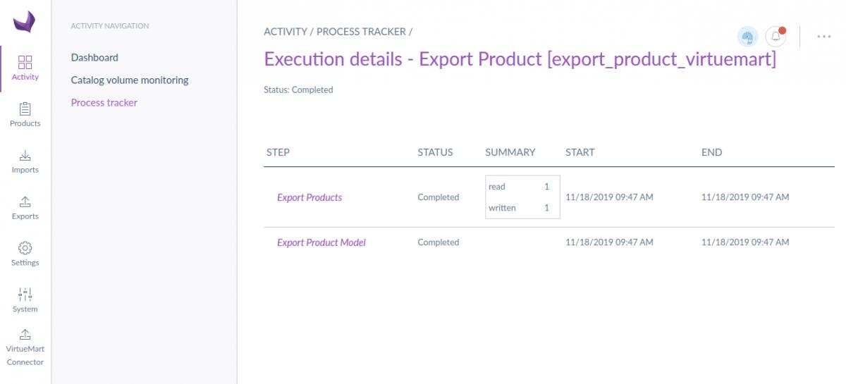 Export detail