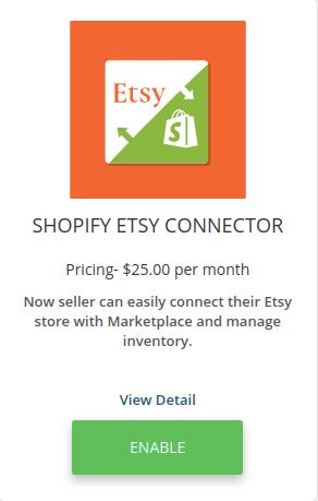 Etsy connector