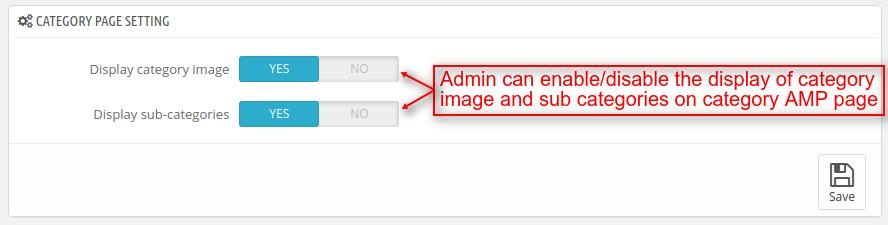 Customize category page setting