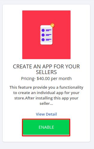create an app for seller