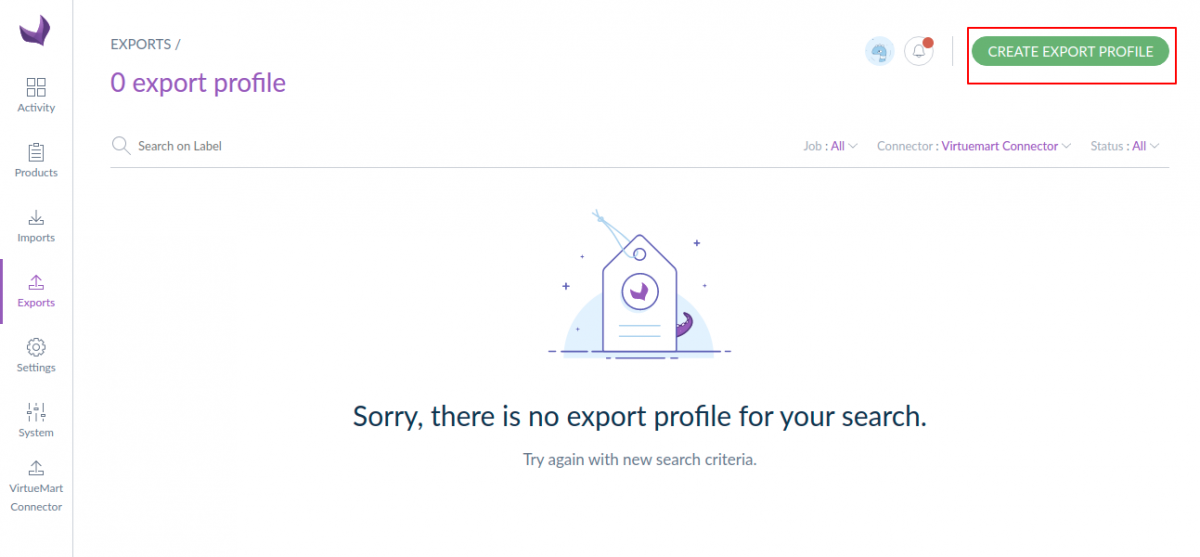 Create export profile