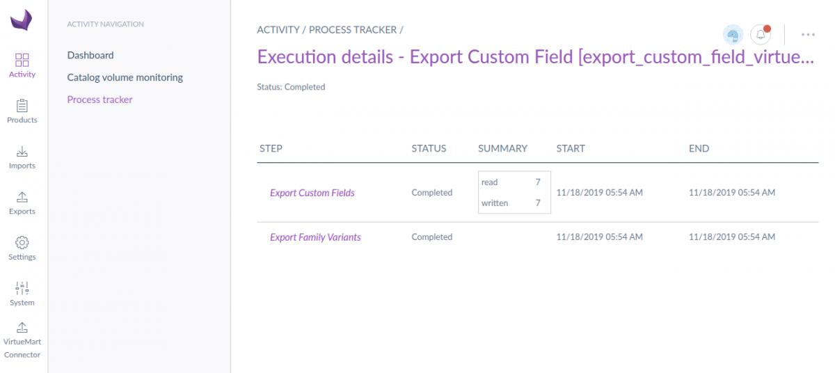 Export custom field