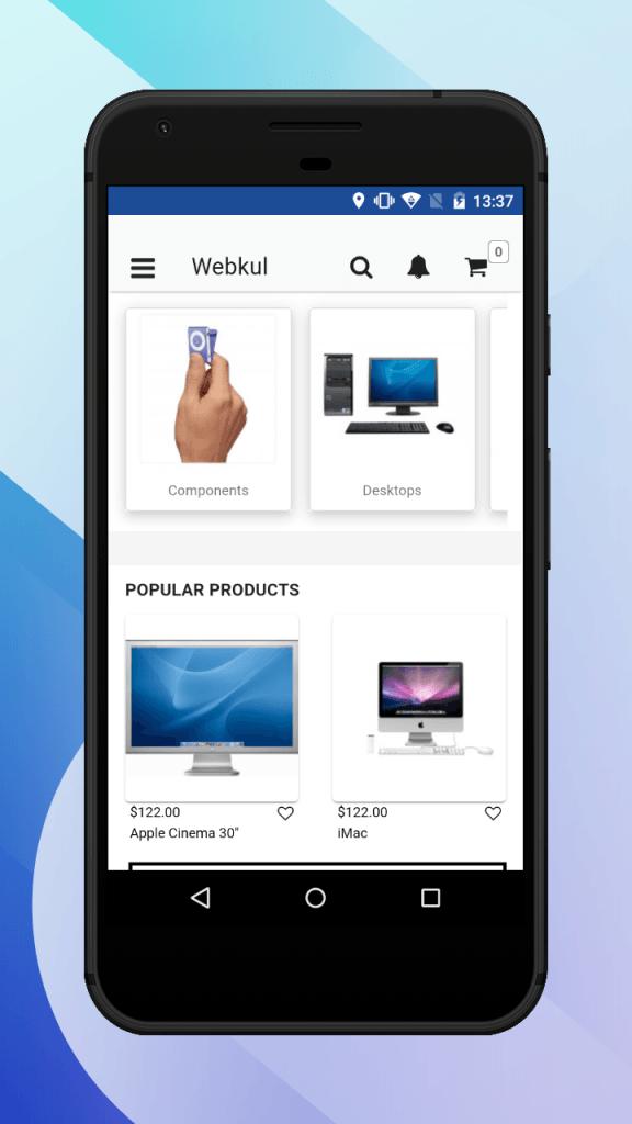 pwa home screen customer's website