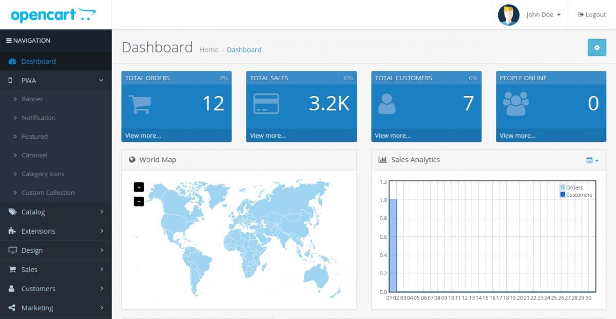 manage pwa from admin dashboard