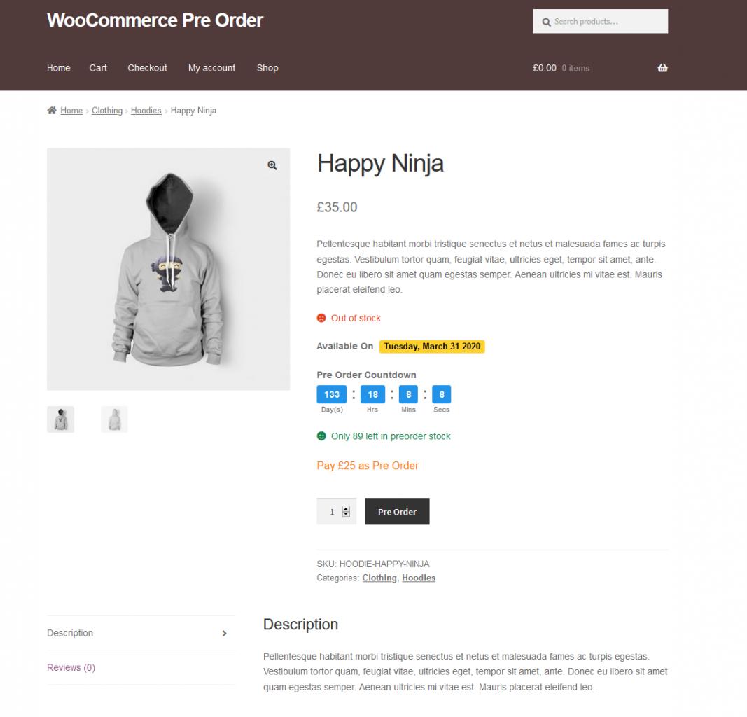 woocommerce pre order