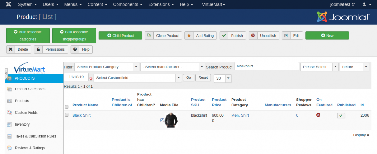 Product backend