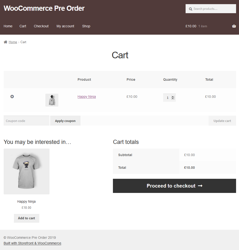 proceed to checkout