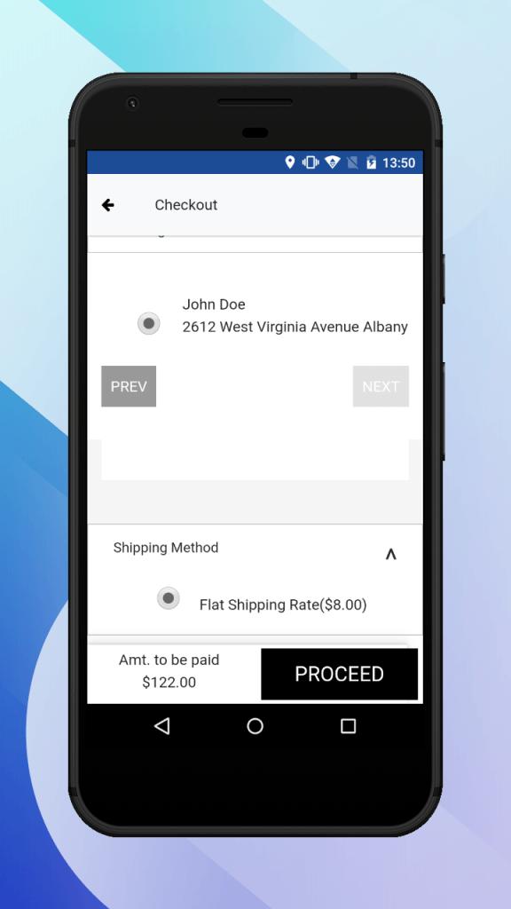 select shipping method
