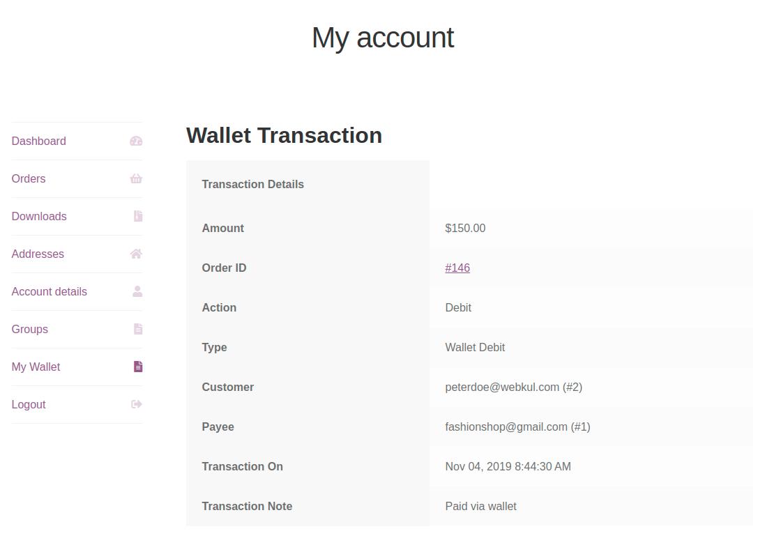 group Buy transaction-details
